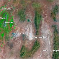 NASAA satellite photo of the Great Basin