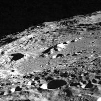 Keeler crater on the moon